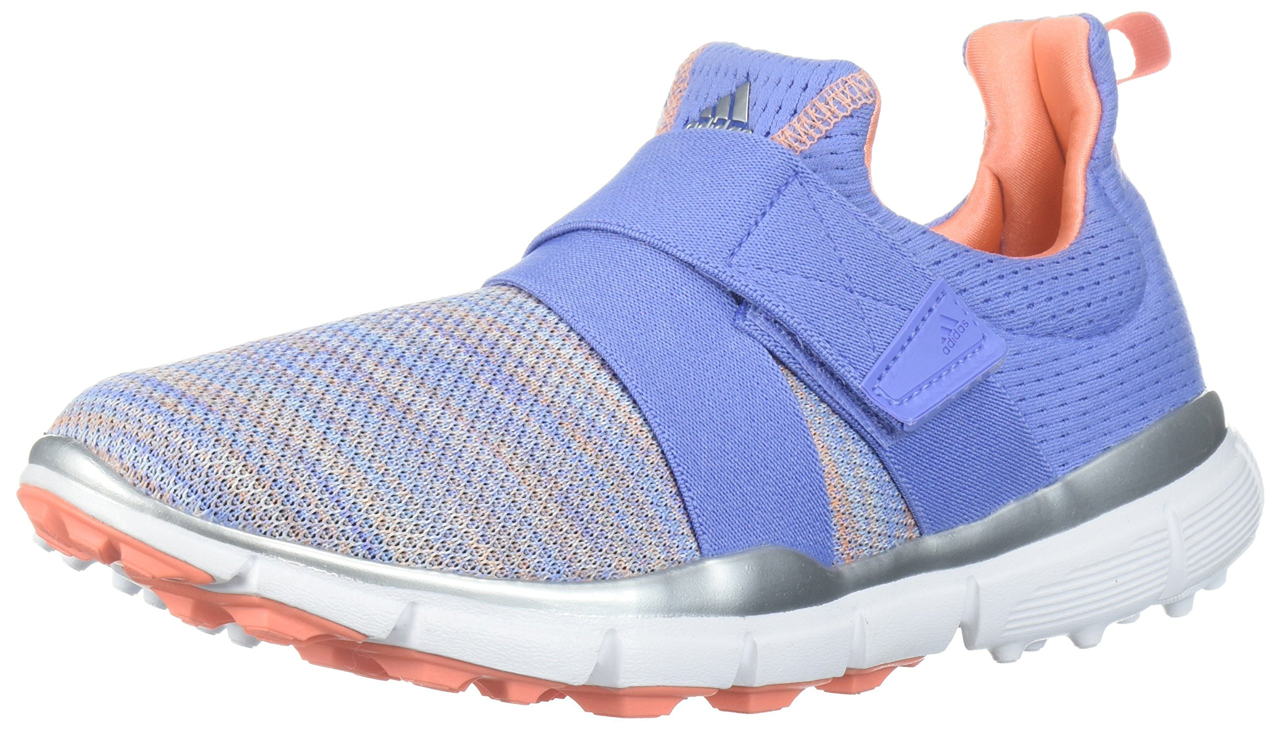 adidas Women's Climacool Knit Golf Shoe, Chalk Purple/Blue/Coral s, 5 M US