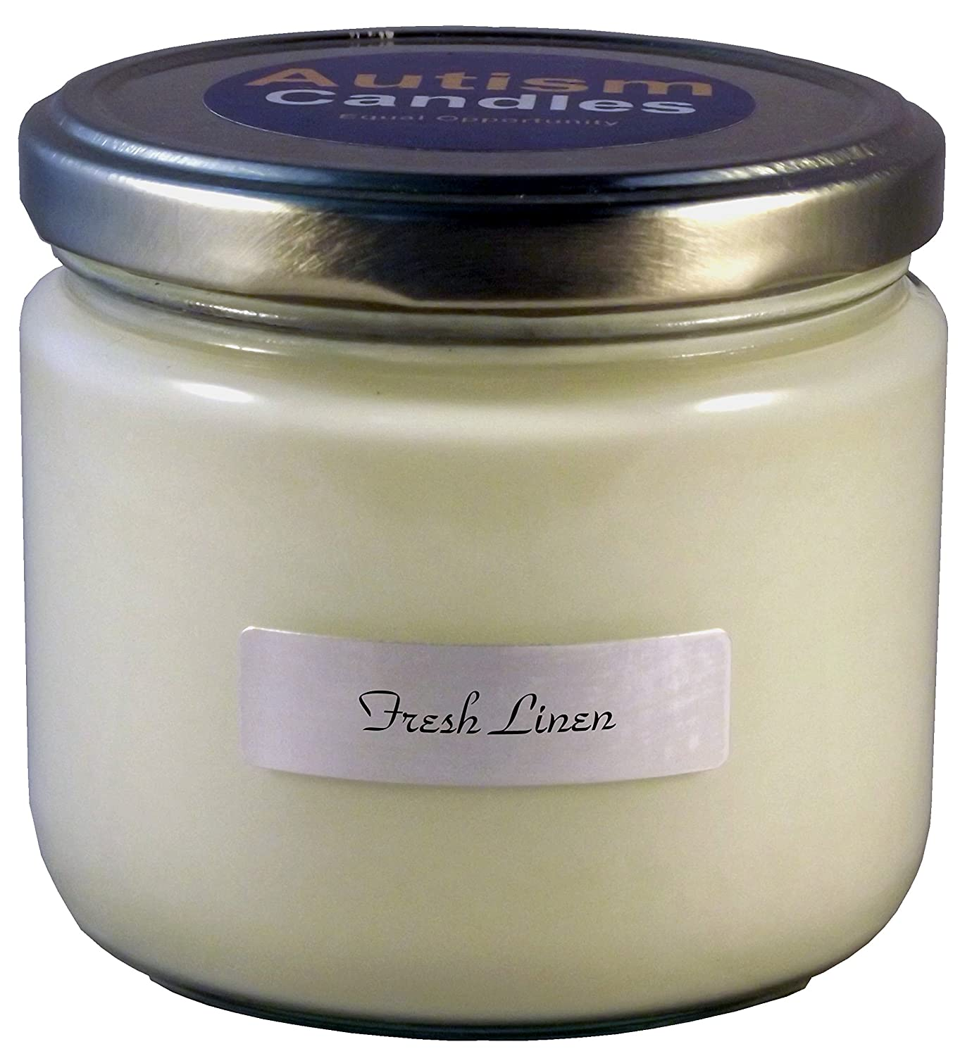 Autism Candles Fresh Linen Scented Candle