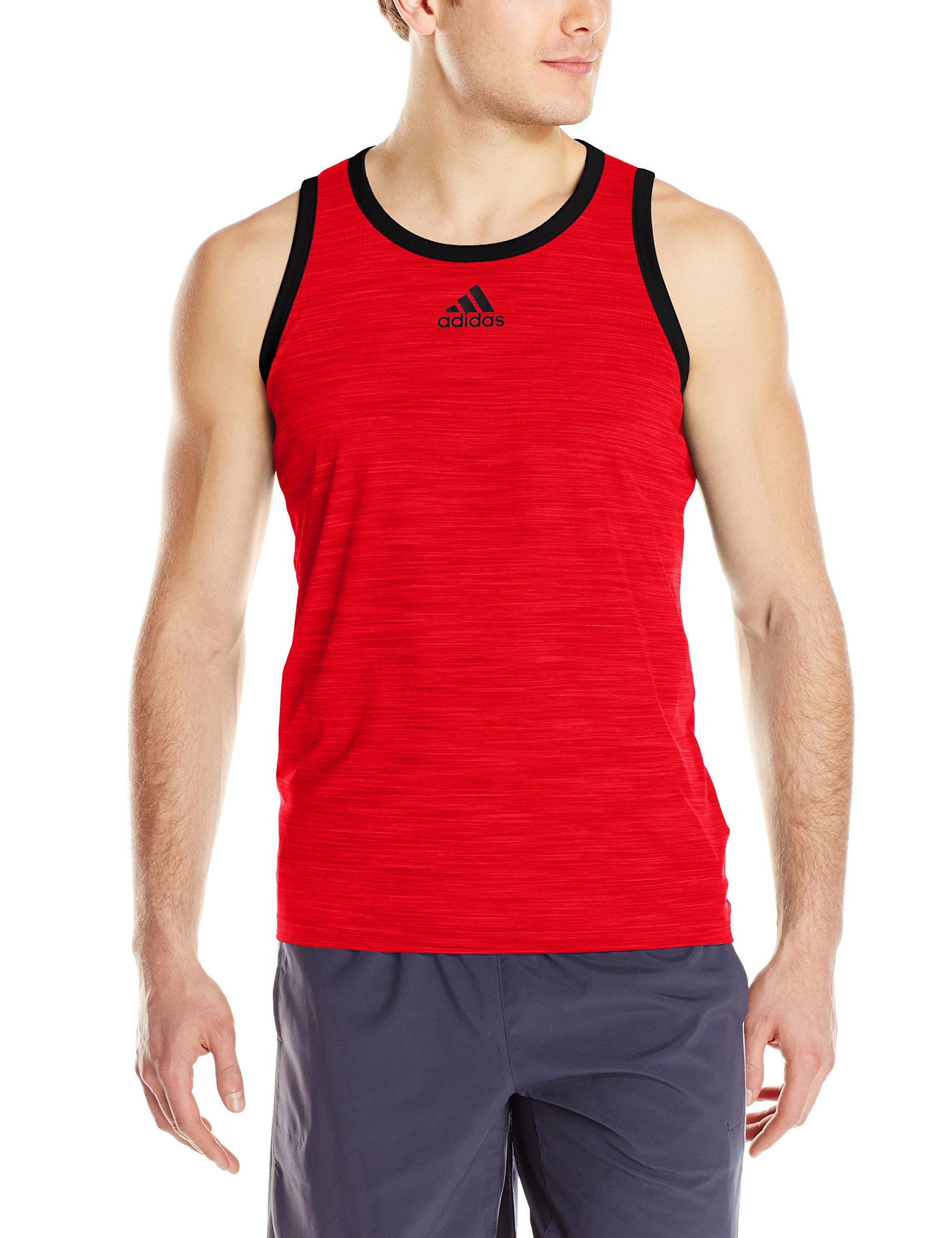 764b45a1428ee Galleon - Adidas Men s Basketball Heathered Tank Top