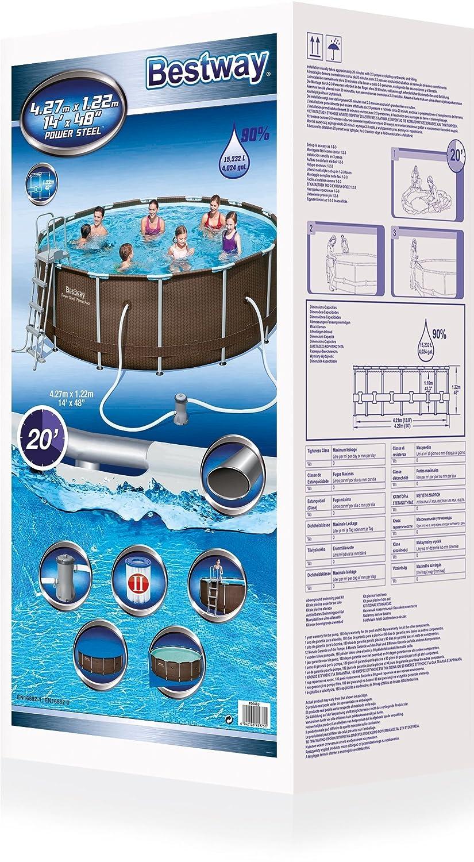 Bestway Pool Set. Good Bestway Pro Max Ft Round In Steel Swimming ...