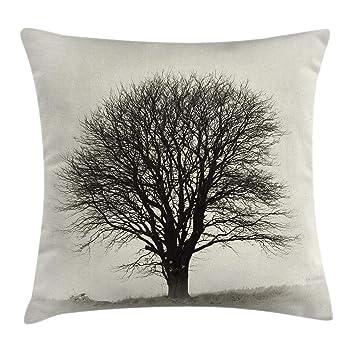 Amazon.com: Gray Throw almohada cojín cubierta por ambesonne ...