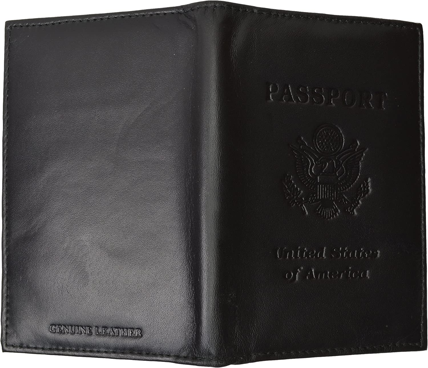 Genuine Leather USA Passport Cover Holder and Case for International Travel