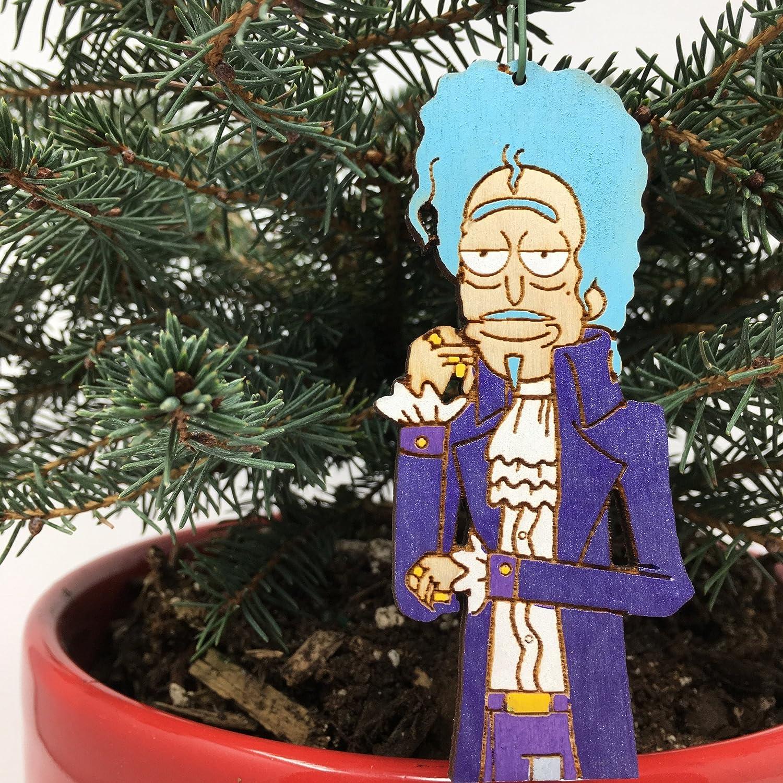 Rick And Morty Christmas Ornaments.Amazon Com Prince Rick Morty Christmas Ornament