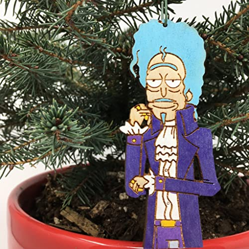 prince rick morty christmas ornament scientist formerly known as rick handmade rear view mirror