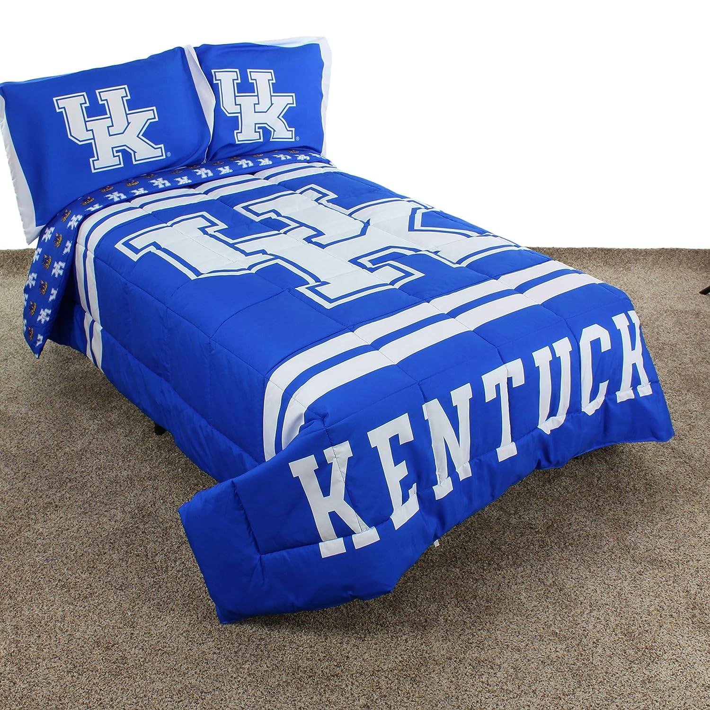 newest aac76 07cea Amazon.com  College Covers Kentucky Wildcats Comforter Set, Queen, Team  Color  Home   Kitchen