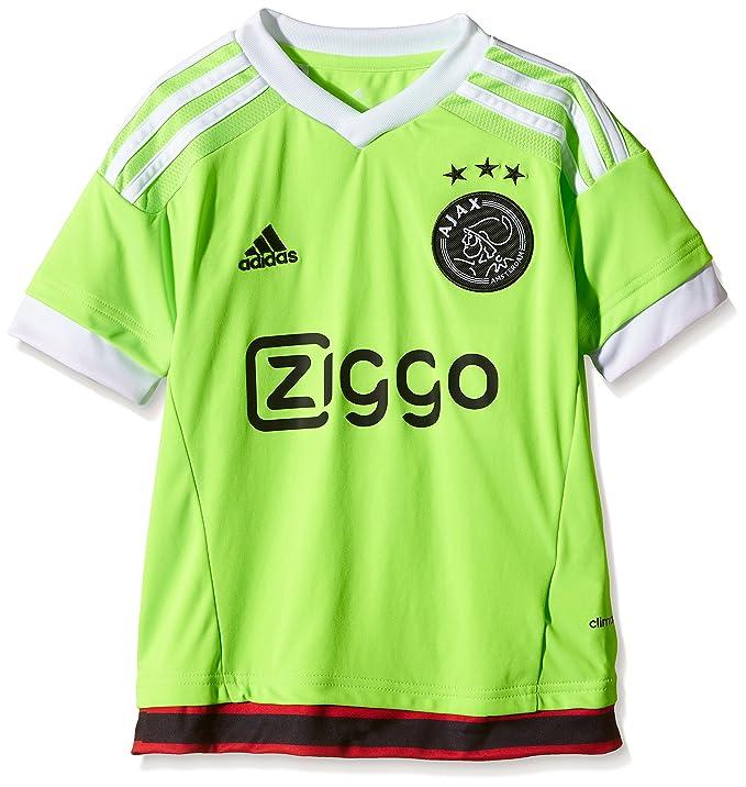 Adidas Camiseta para niños AJAX réplica de Jugadores-visitante Verde Solar Green/White/Black Talla:128: Amazon.es: Deportes y aire libre