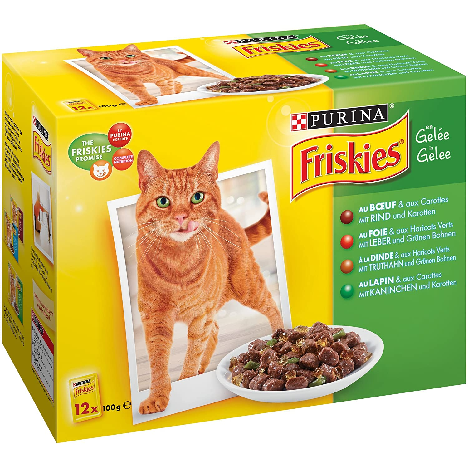 72 x 100 g Fris Gravel for Adult Cats Volume and Saveur Available