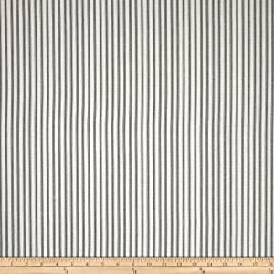 Magnolia Home Fashions Berling Ticking Stripe Slate Grey