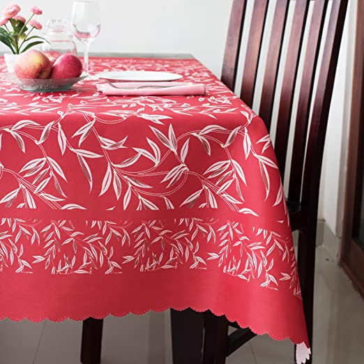 RED, Square 52x52 Turkish Square Red Tablecloth Polyester Table Cover Table Linen Thanksgiving Christmas New Year Eve Gift Stain Resistant Wrinkle Free Non-Iron Dust-Proof Oblong Square Round