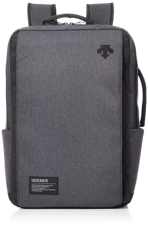 [デサント] バックパック DMANJA10 PCポケット付き 再帰反射 多機能ポケット ショルダー収納可能  ブラック杢 B07KK8V7LZ