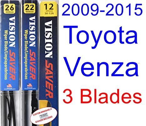 2009 – 2015 Toyota Venza hoja de limpiaparabrisas de repuesto Set/Kit (Saver Automotive