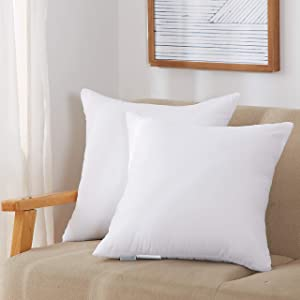 Acanva Throw Inserts Couch Stuffer Pillows Hypoallergenic Square Form Washable Cushion Filler, 26