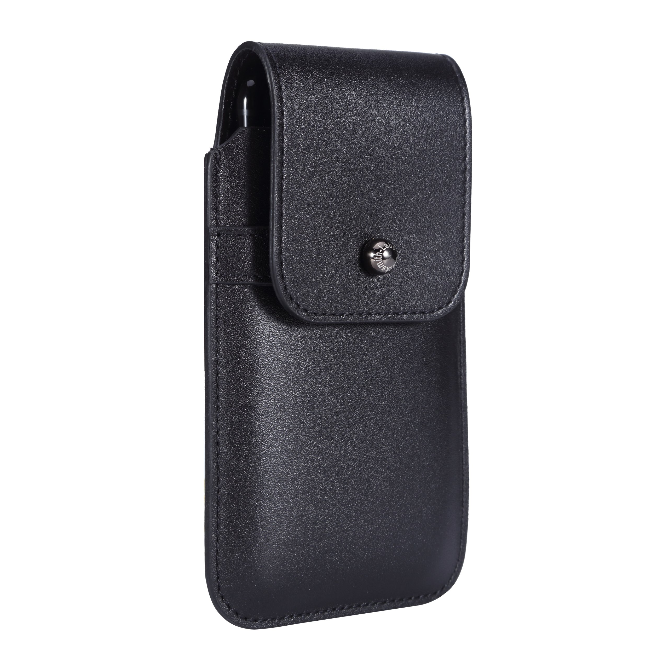 Blacksmith-Labs Barrett 2017 Premium Genuine Leather Swivel Belt Clip Holster for Apple iPhone 6/6s/7 (4.7 inch screen) for use with no cases or covers - Black Cowhide/Gunmetal Belt Clip