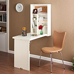 Fold-Out Convertible Desk with Storage