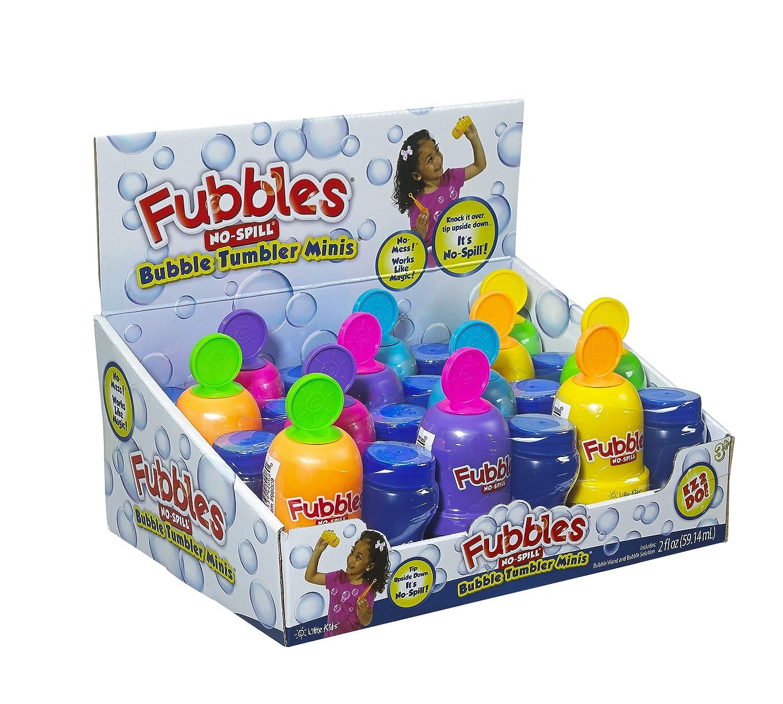 小さな子供用 泡だて器 こぼれない バブルタンブラー ミニス パーティー用 12個パック 2オンス 泡だて器とワンド付き 98008 B00BN4QVEG