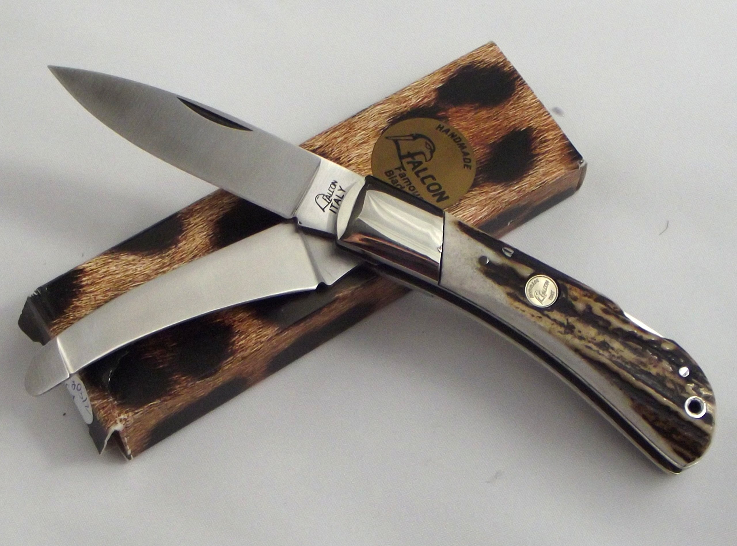 Falcon Famous Blades Handmade in Italy Stag Handle
