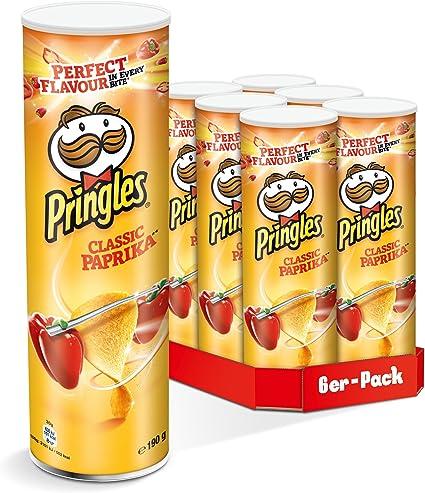 Pringles – Classic pimientos – 190 g 6 unidades): Amazon.es ...