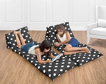 Amazon.com: Blanco y Negro Polka Dot Kids Teen almohadas ...