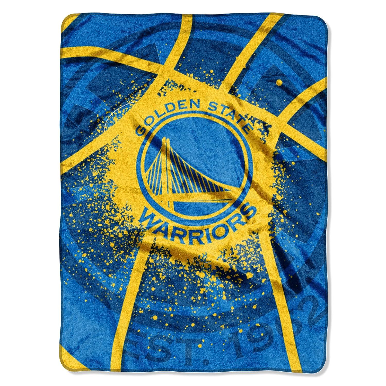 "NBA Golden State Warriors Royal Plush Raschel Twin Throw Blanket 60"" x 80"""