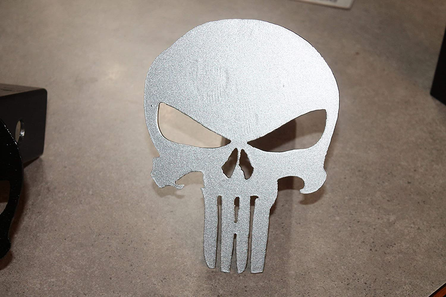 Punisher Trailer Hitch Cover Silver