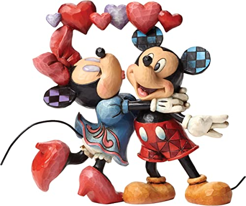 Enesco Jim Shore Disney Love is in The Air Mickey and Minnie Figurine 4046038 New Heart
