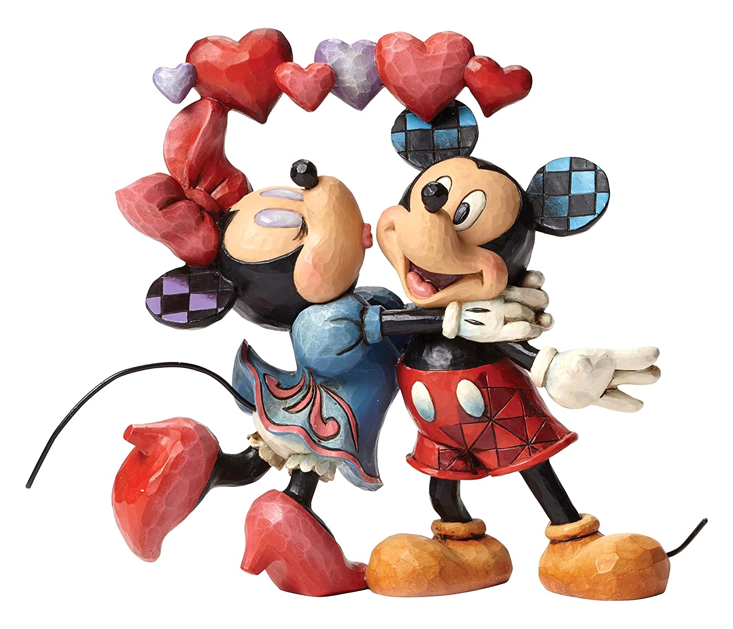 Enesco Jim Shore Disney Love is in The Air Mickey and Minnie Figurine