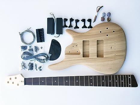 DIY – Kit de Guitarra Eléctrica Fresno 5 cuerdas graves