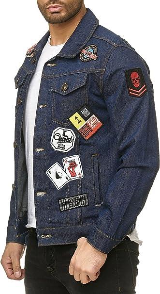 Männer Jeans Jacke mit Flicken