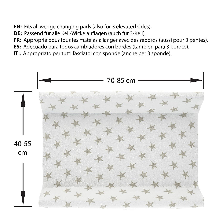 Funda para cambiador bebe - 2 fundas para colchoneta cambiador funda bañera 50x70 50x80 toalla ajustable a cambiadores: Amazon.es: Bebé