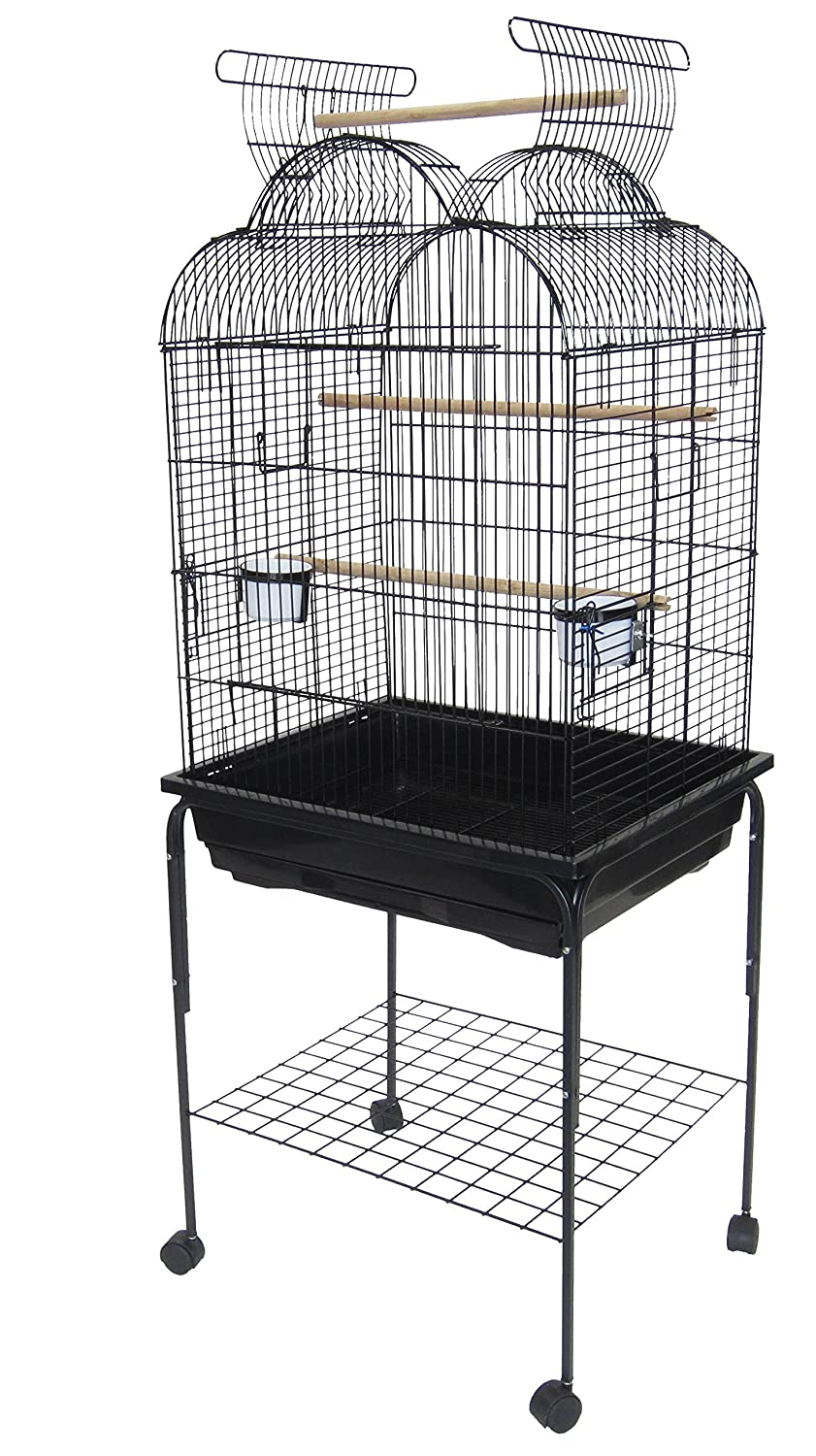 YML Shell Top Parrot Cage, 5 by 8-Inch, White 7904_4194WHT