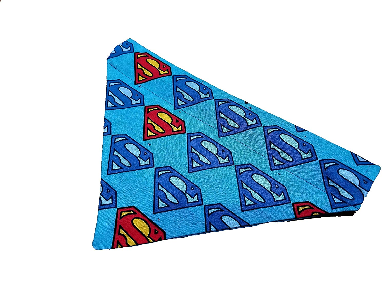 Superman DC Comic Pattern Dog Bandana No-Tie