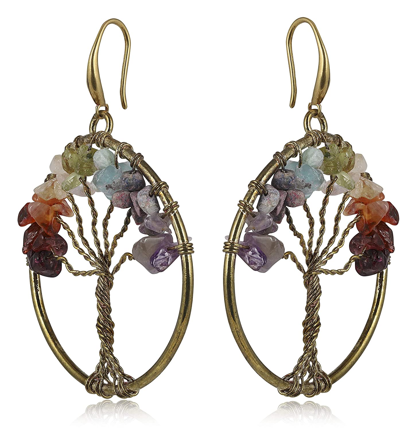My Meera Store Tree of Life Earrings