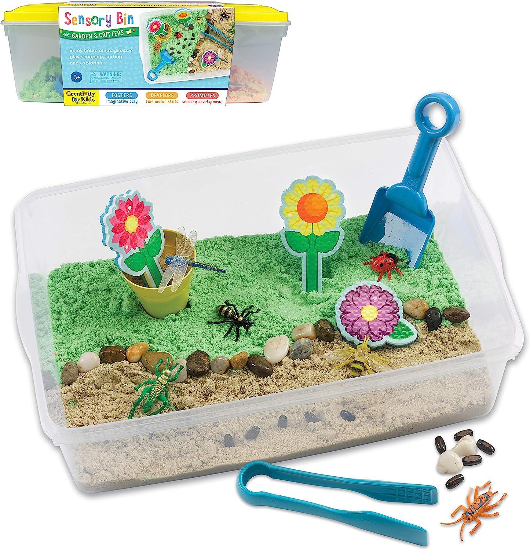 Creativity for Kids Sensory Bin: Garden and Critters - Pretend Play, Flower Garden Preschool Toys