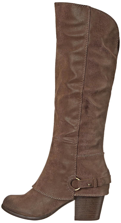 Womens Lexy Wide Calf Western Boot, Grey, 7.5 M US Fergalicious
