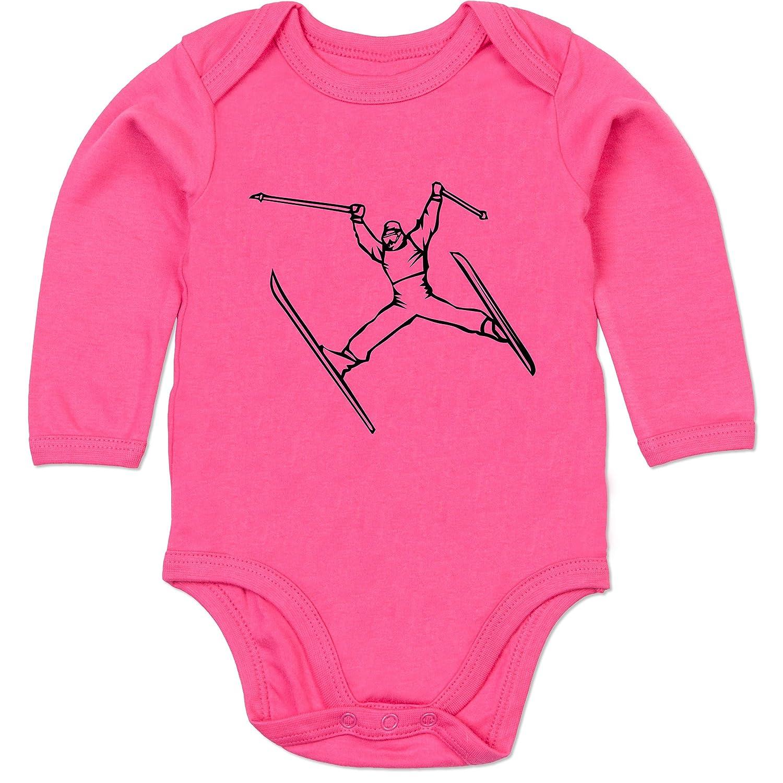 Sport Baby - Ski Jump - Baby Strampler aus organischer Baumwolle für Mädchen und Jungen