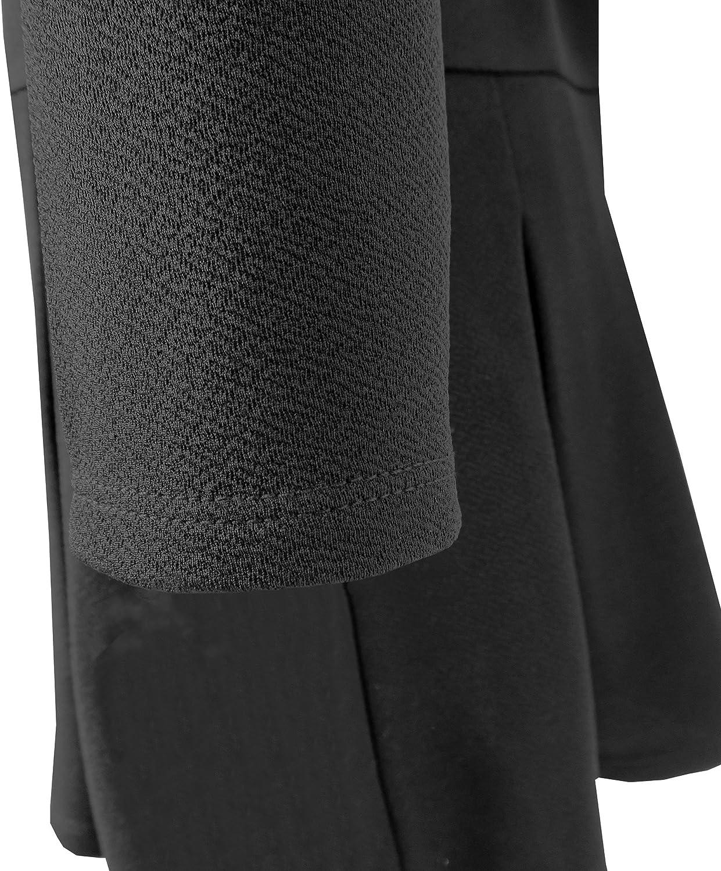 Sunny Fashion Girls Dress School Back School Long Sleeve Bow Tie Dress Size 4-10