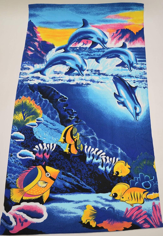 ORPHEEBS Serviette de Plage Divers mod/èles 80 x 160 cm 1 Drap de Plage Poisson