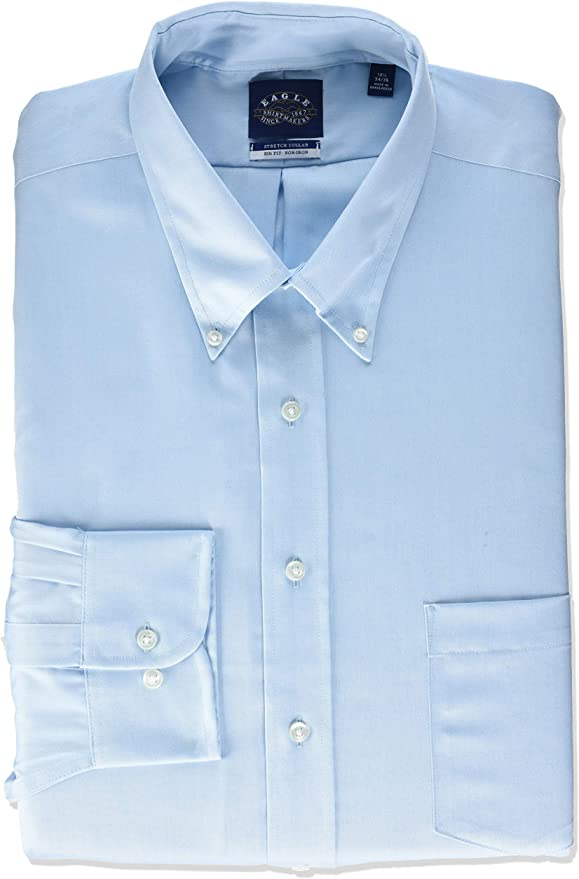 Eagle Non Iron Stretch Camisa de Vestir para Hombre: Amazon.es: Ropa y accesorios