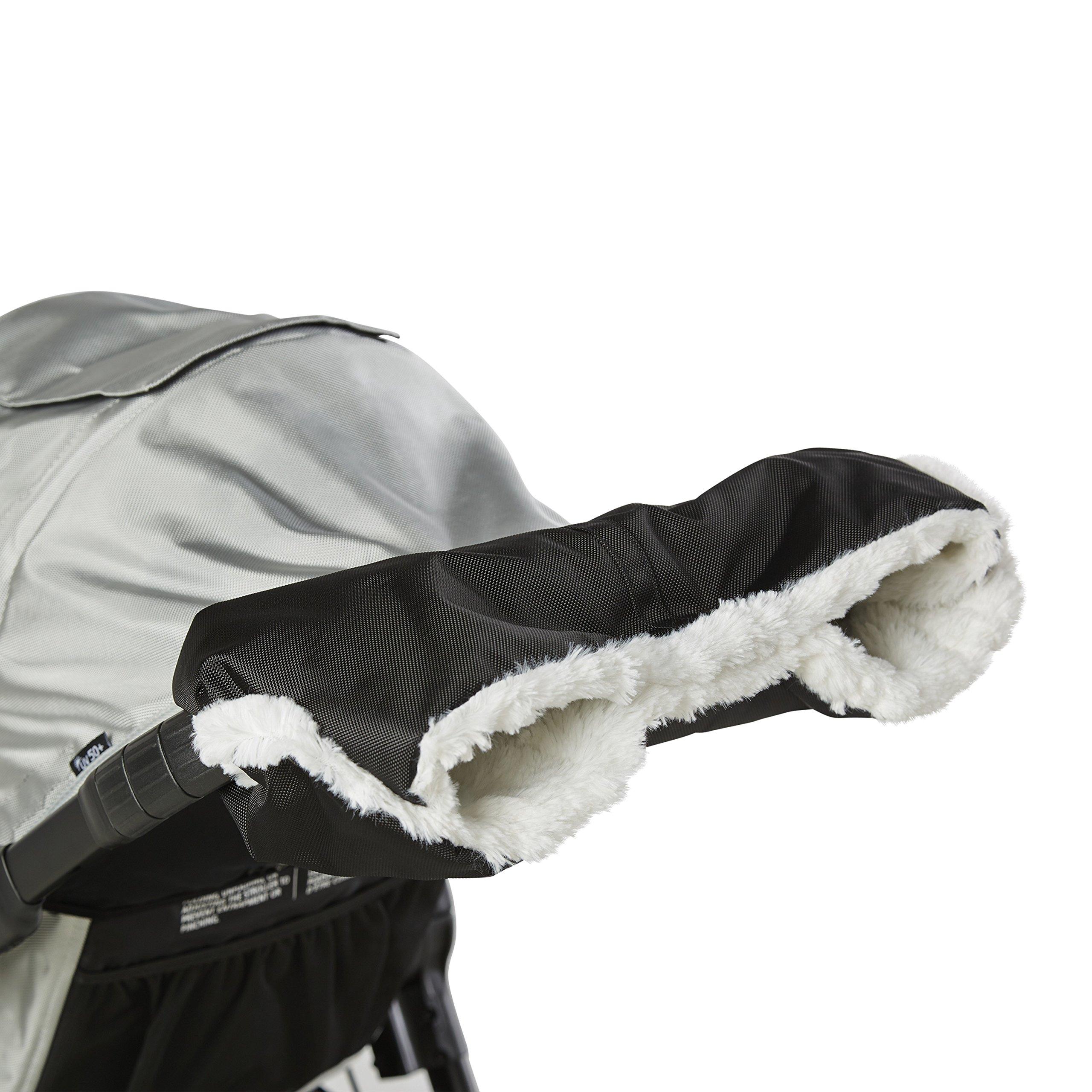 Baby Jogger Plush Stroller Hand Muff - Black Stroller Accessory