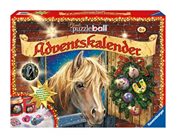 Pferde Weihnachtskalender.Ravensburger 11424 Adventskalender Pferde Puzzleball 2010