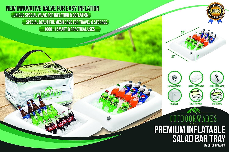 Premium inflable ensalada Bar Bandeja con válvula de drenaje ...
