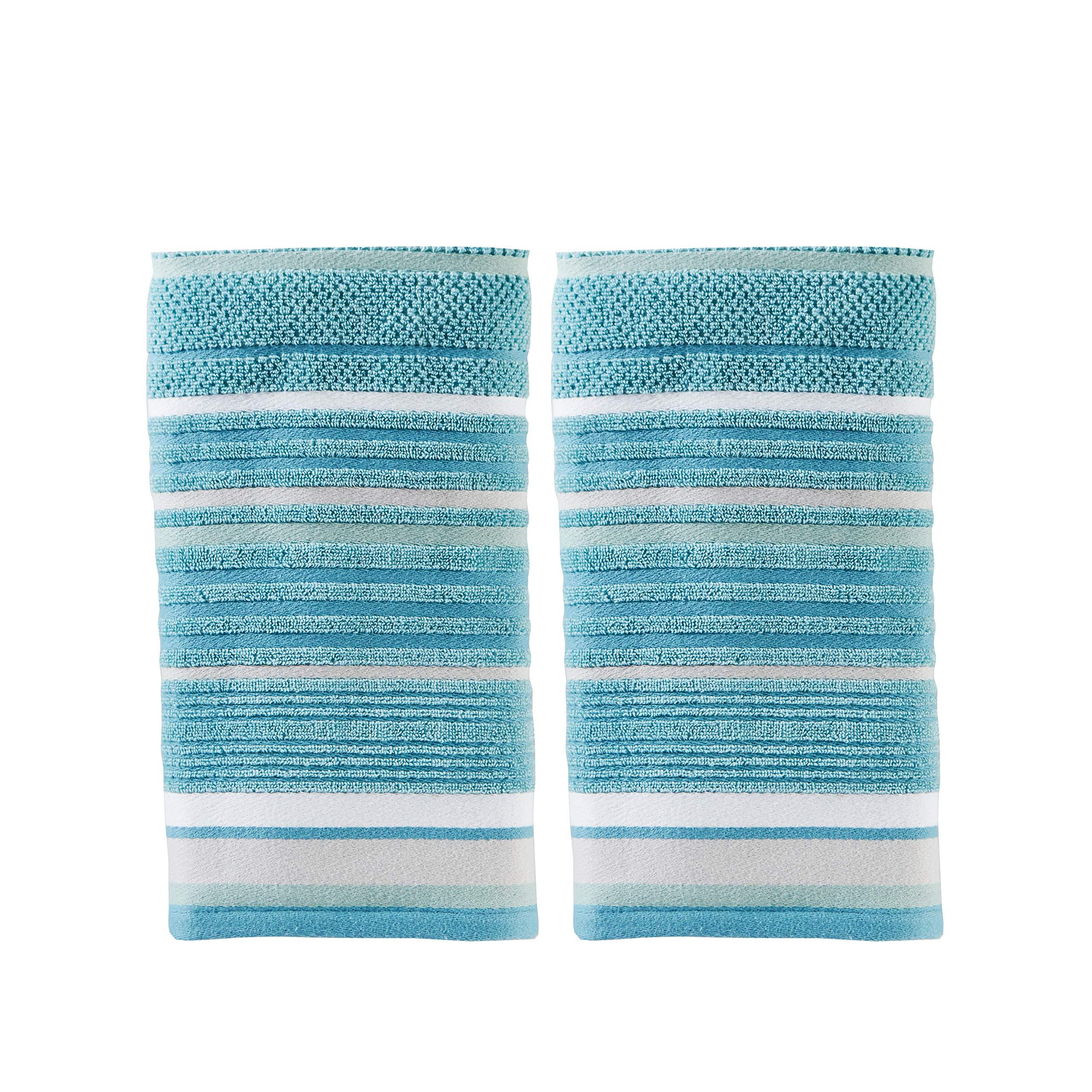 SKL Home by Saturday Knight Ltd. Seabrook Stripe 2-Piece Hand Towel Set, Teal