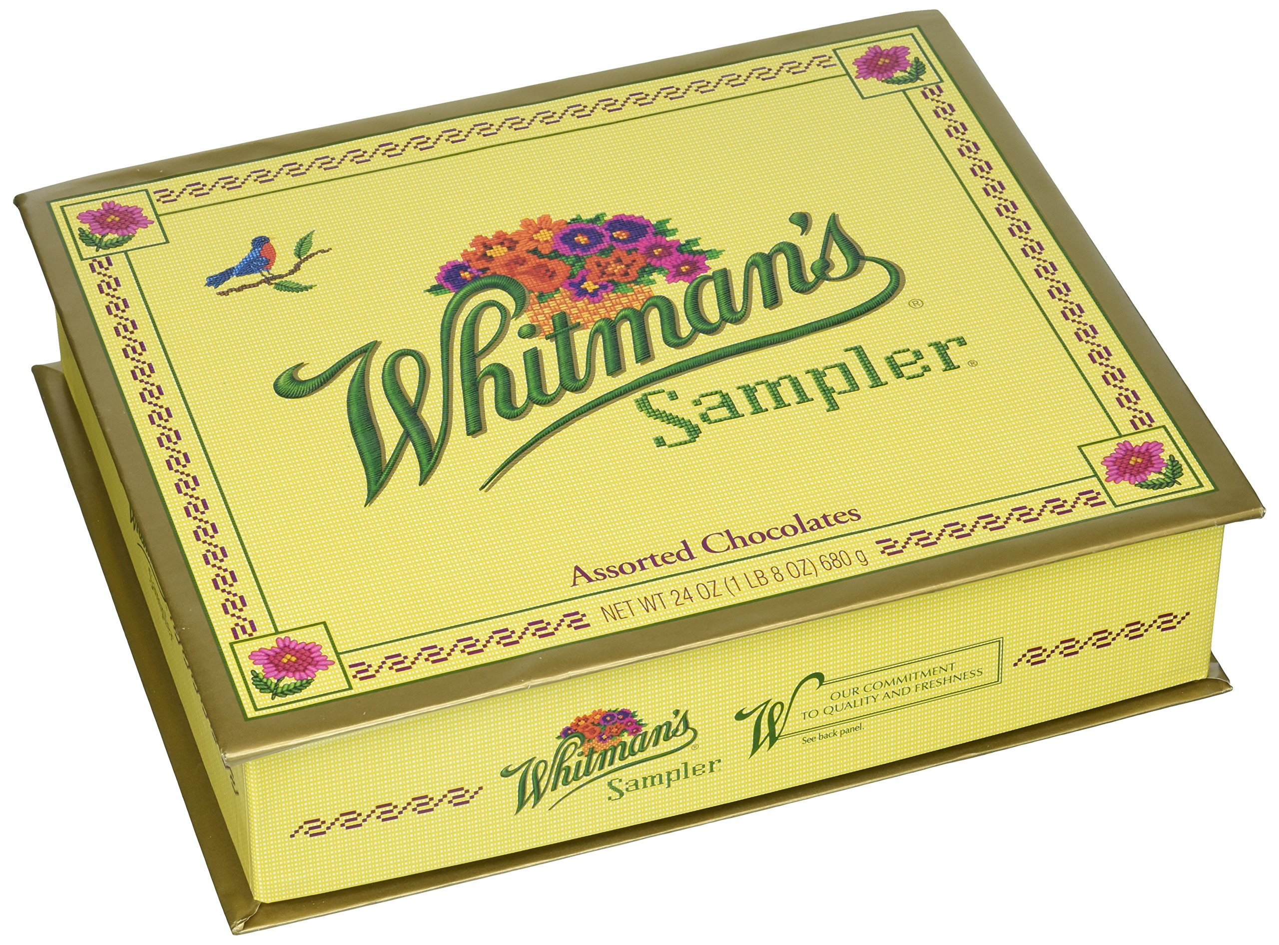 Whitman's Sampler Assorted Chocolate, 24-Ounce Box