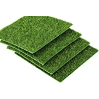"""I-MART 6""""X6"""" Fake Grass for Dollhouse Miniatures Garden, Artificial Grass for Crafts Decoration, Mini House Sum Lawn…"""