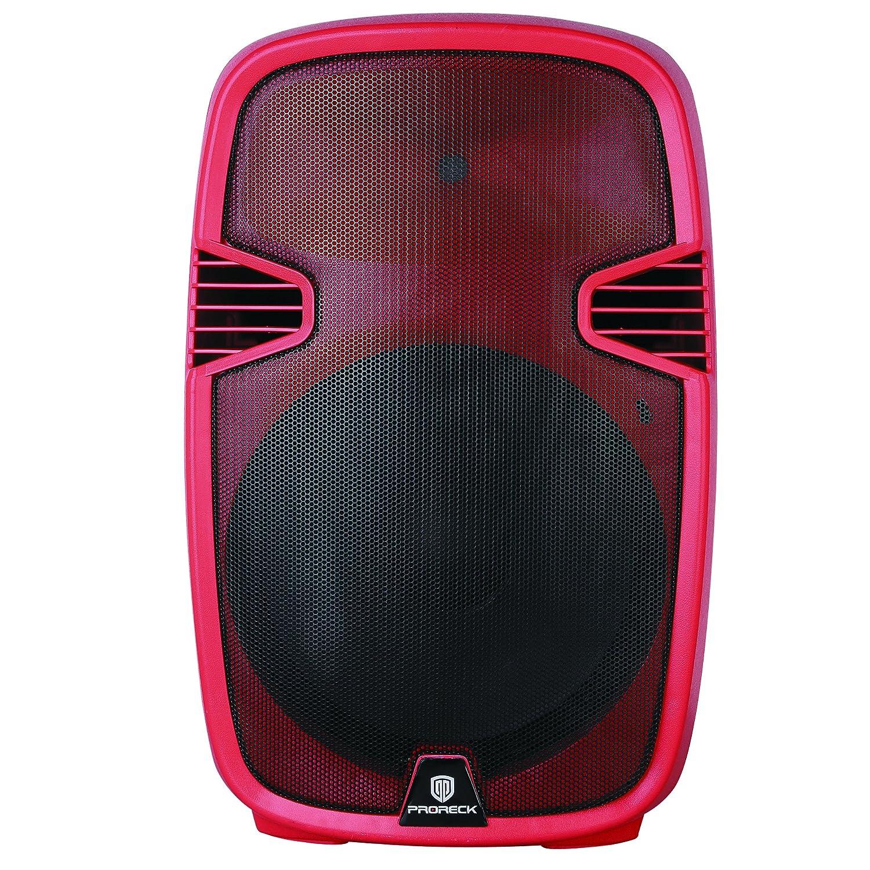 Proreck Pr C15 Portable 15 Inch 600 Watt 2 Way Powered Fuse Box Headphones Dj Pa Speaker With Bluetooth Usb Sd Card Reader Fm Radio Remote Control Led