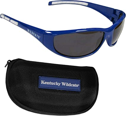 Siskiyou NCAA Michigan Wolverines Wrap Sunglasses /& Zippered Case Blue