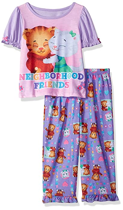 Amazon.com: Daniel Tiger Toddler Girls 2pc Sleepwear Set, Purple, 4T: Clothing