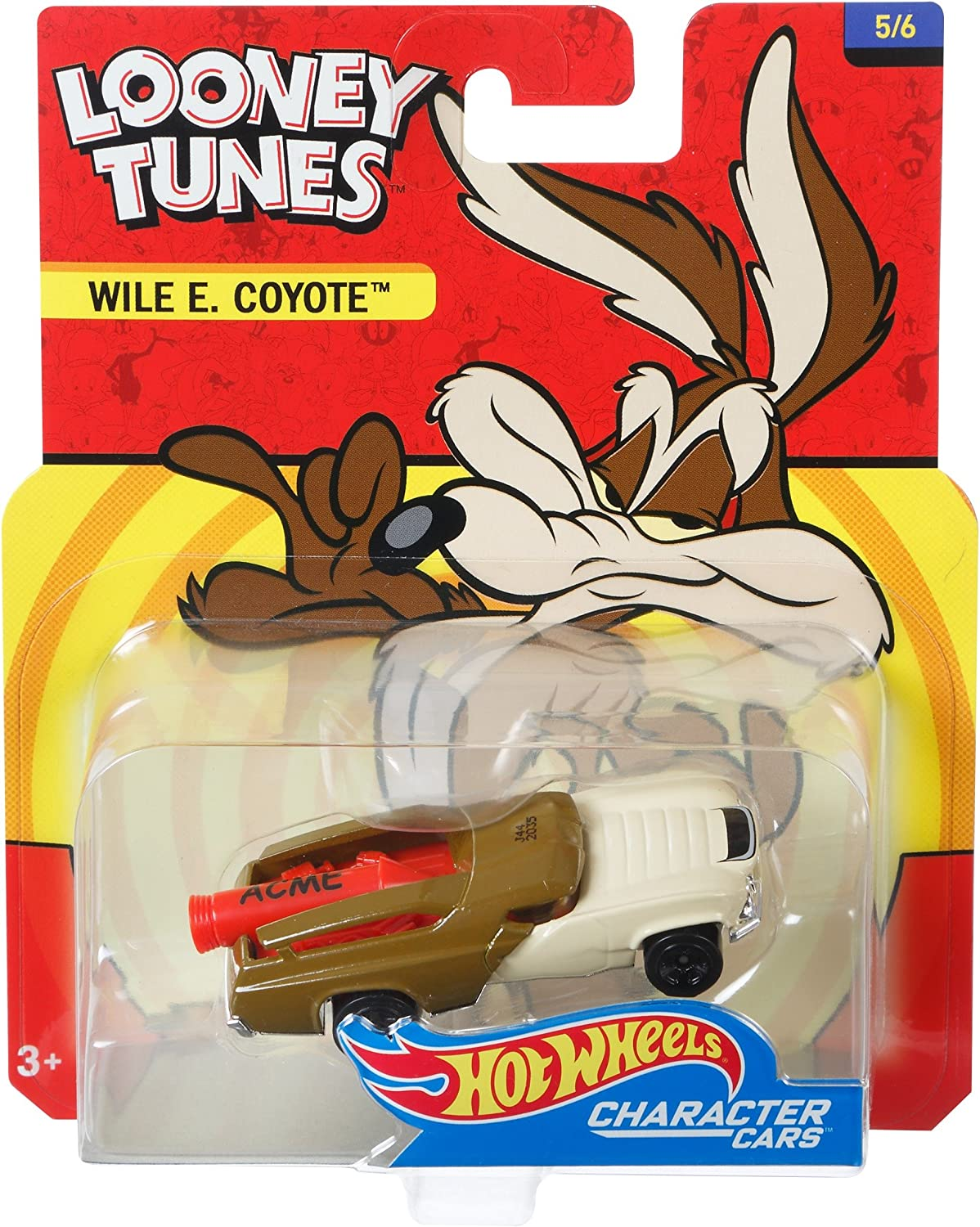 Looney Tunes Car Set 6 Autos Bugs Bunny Road Runner 1:64 Hot Wheels DMH73