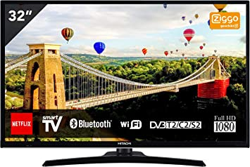 Hitachi 32HE4000 TV de 81 cm (32 Pulgadas) (Full HD, sintonizador Triple, Smart TV, WiFi, BT) [Clase energética A +]: Hitachi: Amazon.es: Electrónica