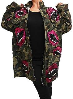Damen Patches Camouflage Denim Jacke Long Jacket Parka m Bomberjacke h  Jeansjacke Patches übergangsjacke Lederjacke Blazer 6b6590d3bf